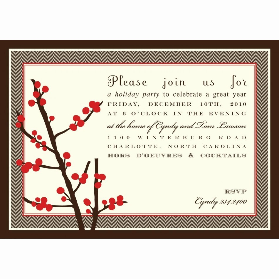 Free Printable Christmas Invitations Cards Best Of Holiday Berries Christmas Party Printable Invitation