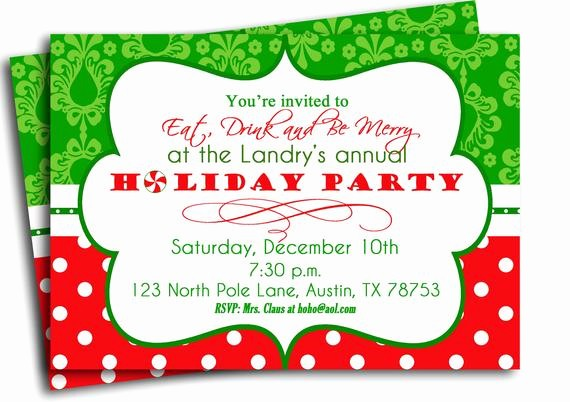 Free Printable Christmas Invitations Cards Best Of Items Similar to Christmas Party Invitation Printable