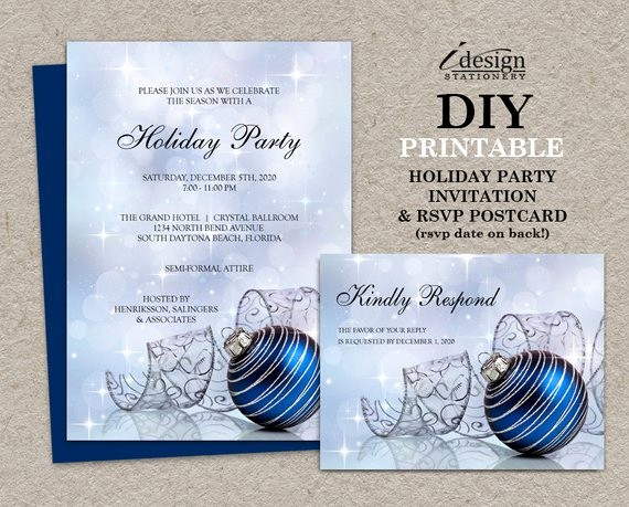 Free Printable Christmas Invitations Cards Elegant Items Similar to Christmas Party Invitations with Rsvp