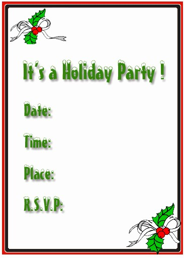 Free Printable Christmas Invitations Cards Inspirational Free Holiday Party Invitations Free Christmas Invitations