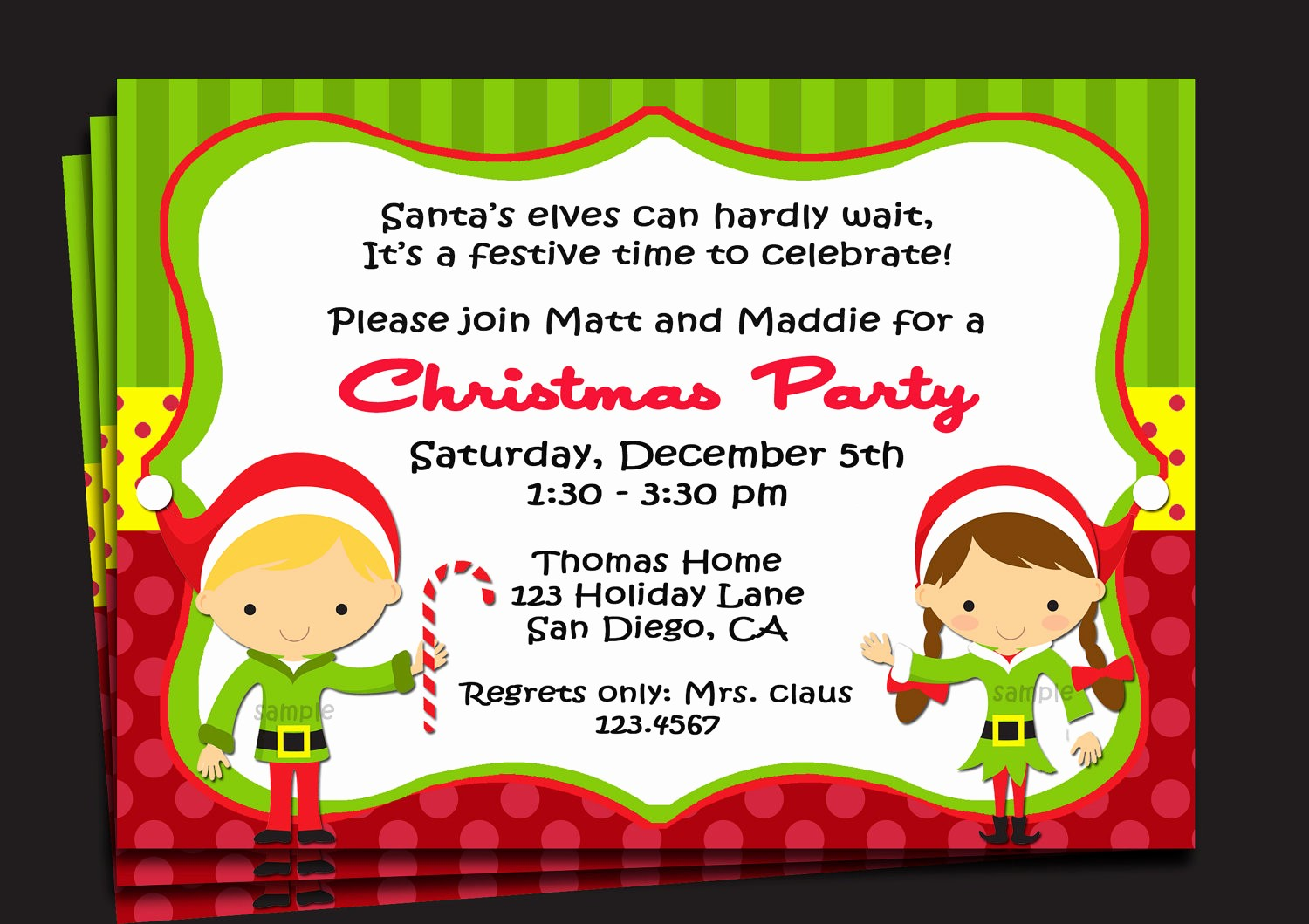 Free Printable Christmas Invitations Cards Lovely Invitation for Christmas Party