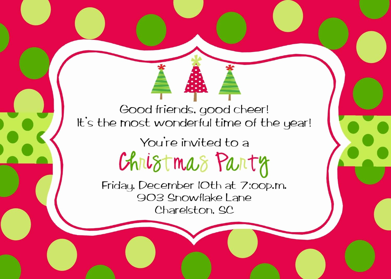 Free Printable Christmas Invitations Cards Luxury Christmas Party Invitation Template