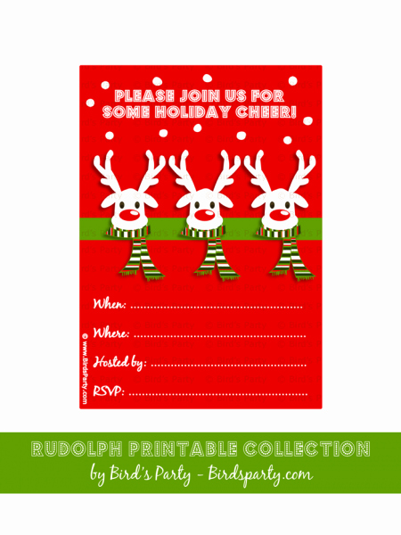 Free Printable Christmas Invitations Cards New Christmas Invitation Cards Free Printable – Fun for