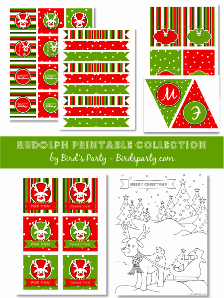 Free Printable Christmas Invitations Cards New Free Christmas Party Printables From Bird S Party