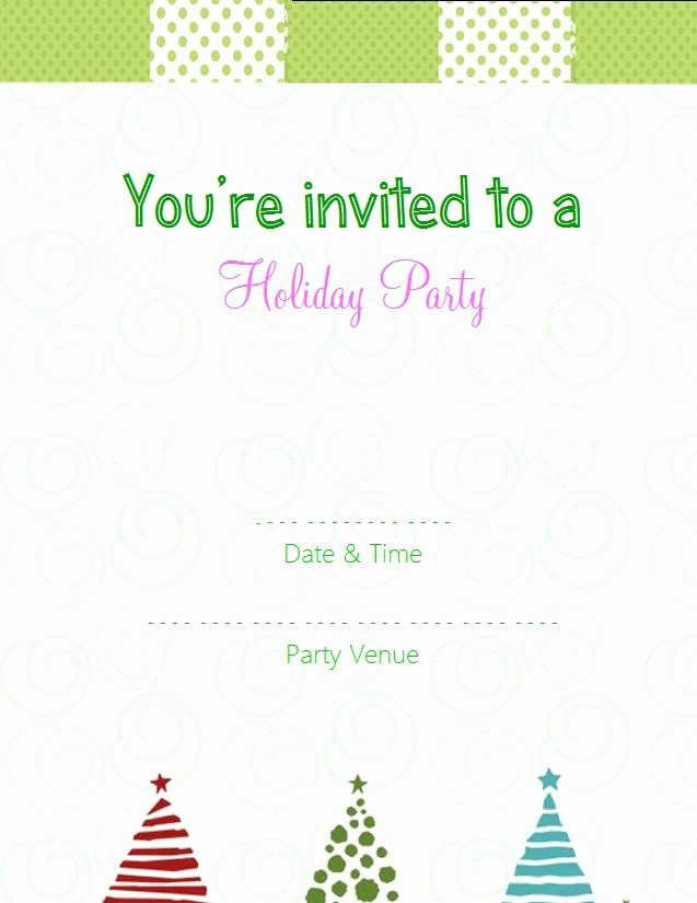 Free Printable Christmas Invitations Cards New Free Line Party Invitations Template