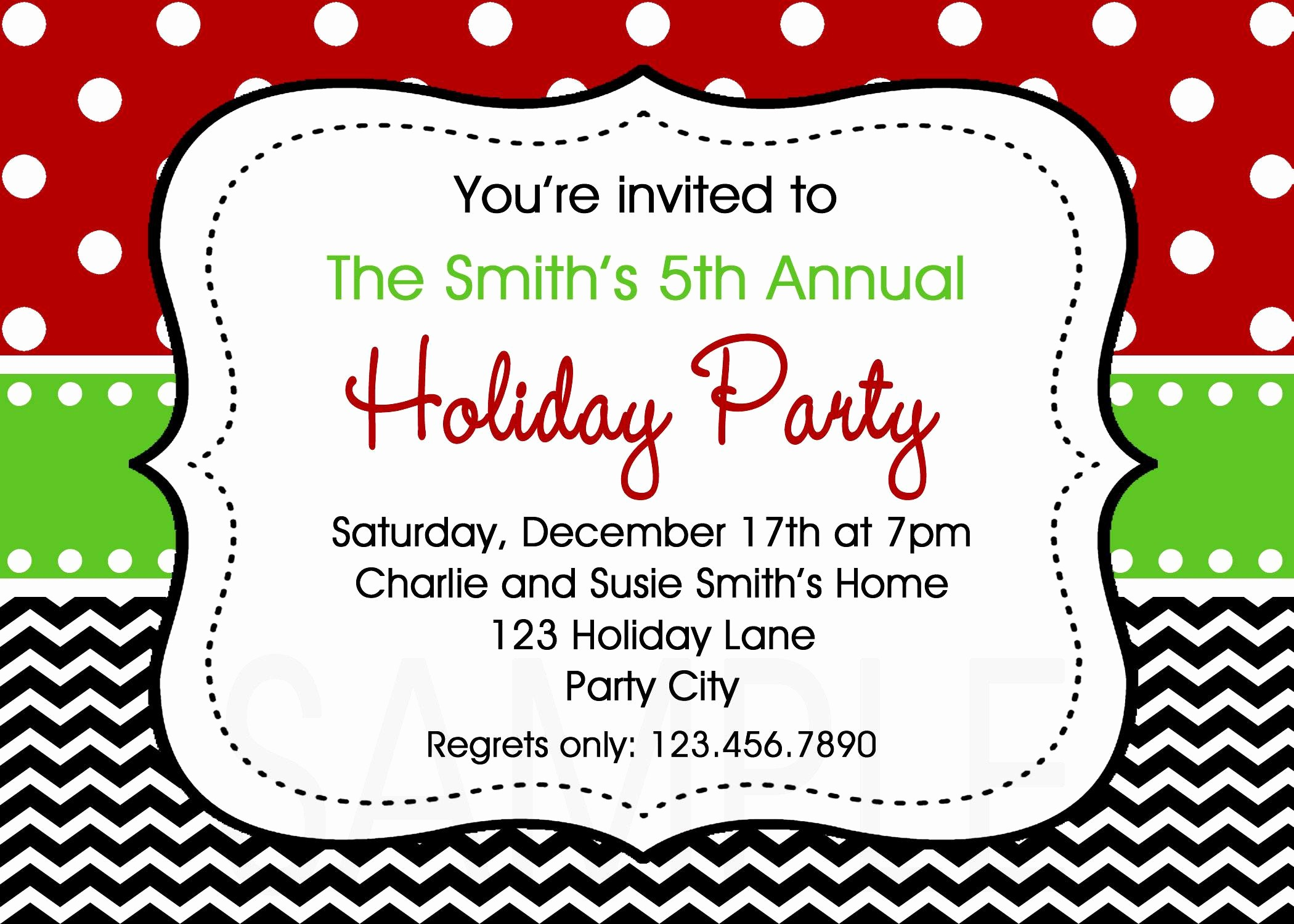 Free Printable Christmas Invitations Cards New Holiday Party Invites