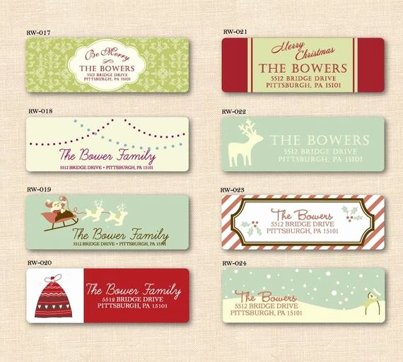 Free Printable Christmas Mailing Labels Awesome Holiday Address Labels Printable Design