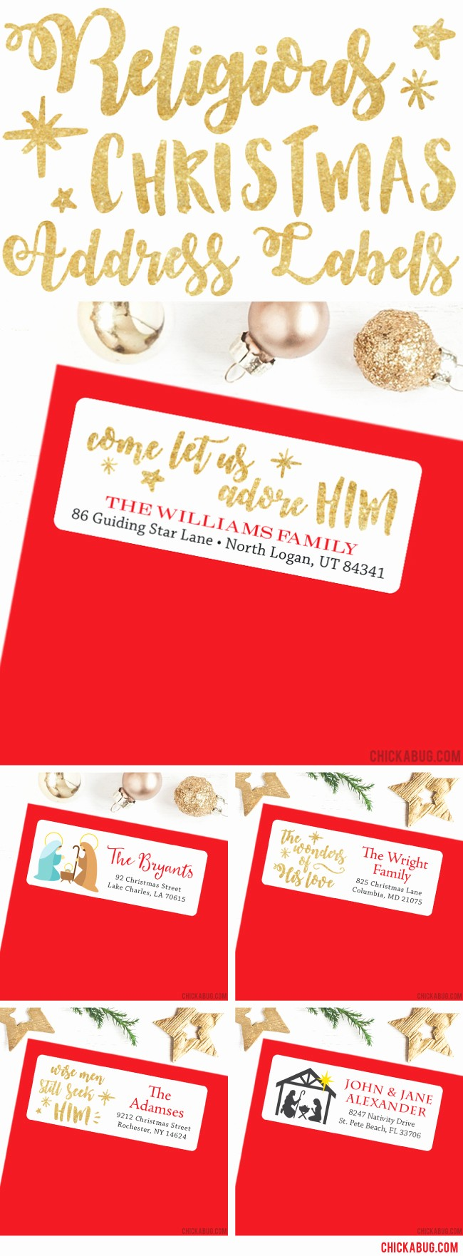 Free Printable Christmas Mailing Labels Awesome New Religious Christmas Address Labels