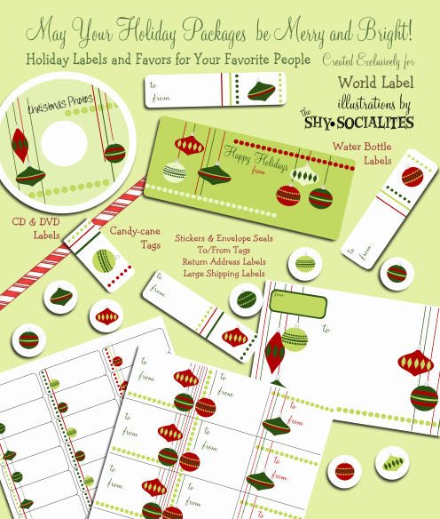 Free Printable Christmas Mailing Labels Best Of Holiday Labels Holiday Label Templates Free Printable