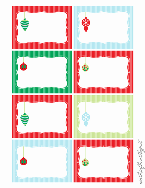Free Printable Christmas Mailing Labels Fresh Christmas Labels Free