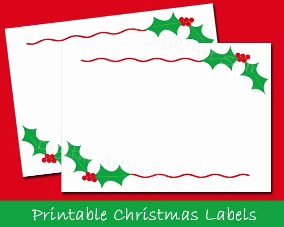 Free Printable Christmas Mailing Labels Fresh Printable Christmas Labels Tent Cards Holiday Place