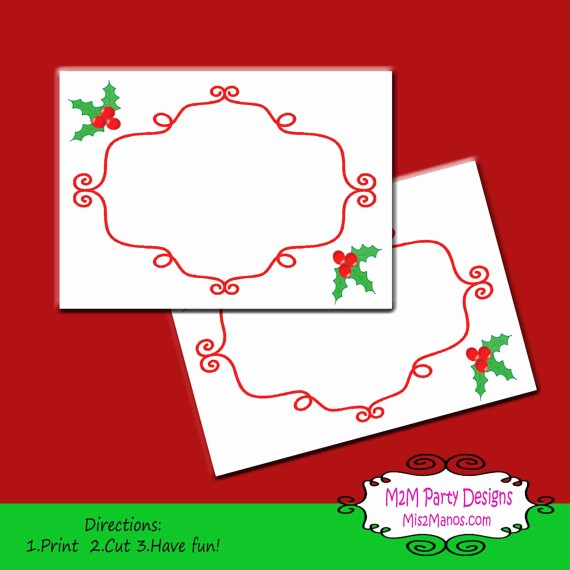 Free Printable Christmas Mailing Labels Inspirational Printable Christmas Labels Tent Cards Holiday Mailing