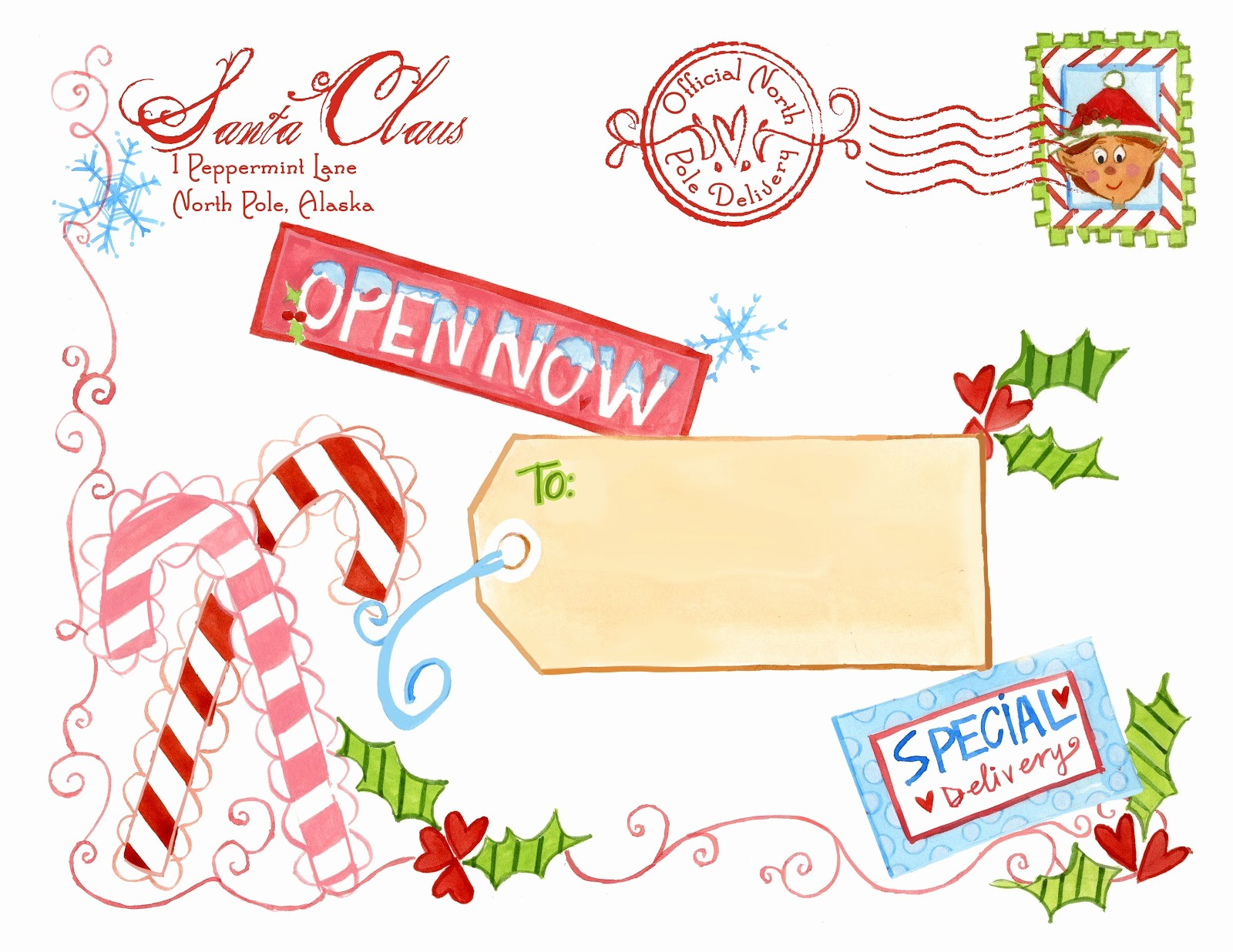 Free Printable Christmas Mailing Labels Lovely north Pole Notes August 2013
