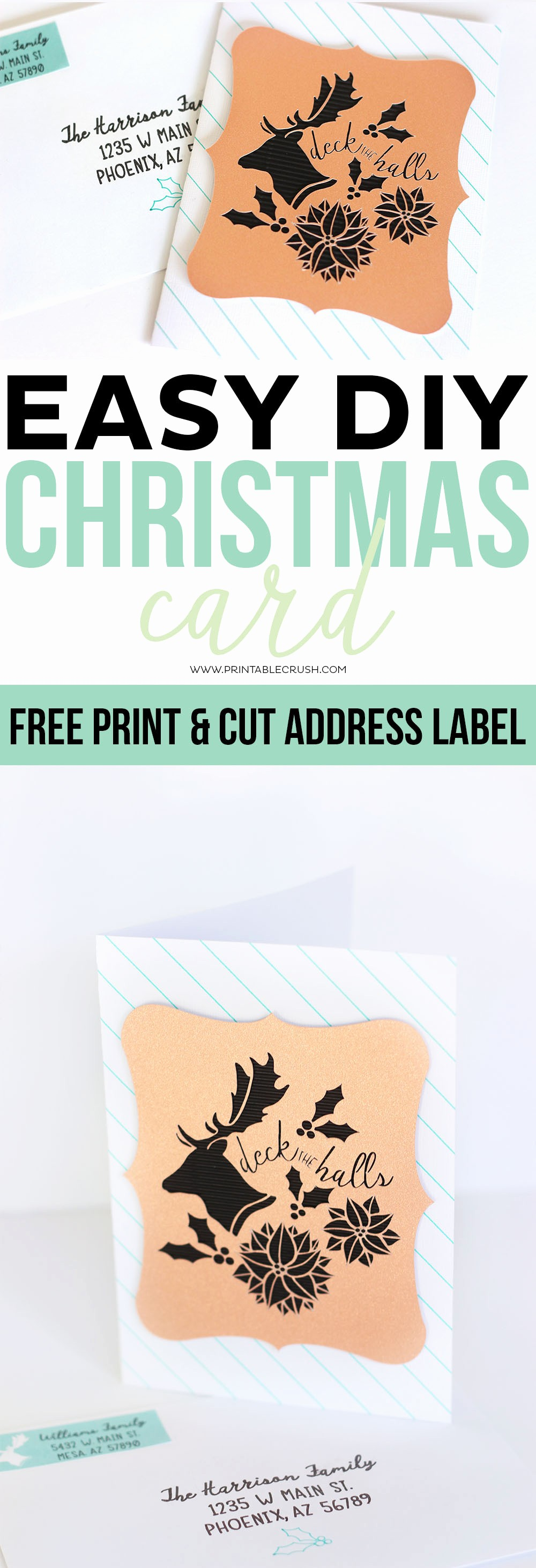 Free Printable Christmas Mailing Labels Luxury Diy Christmas Card and Free Printable Address Label