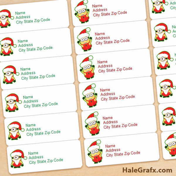 Free Printable Christmas Mailing Labels Luxury Free Printable Christmas Minions Address Labels