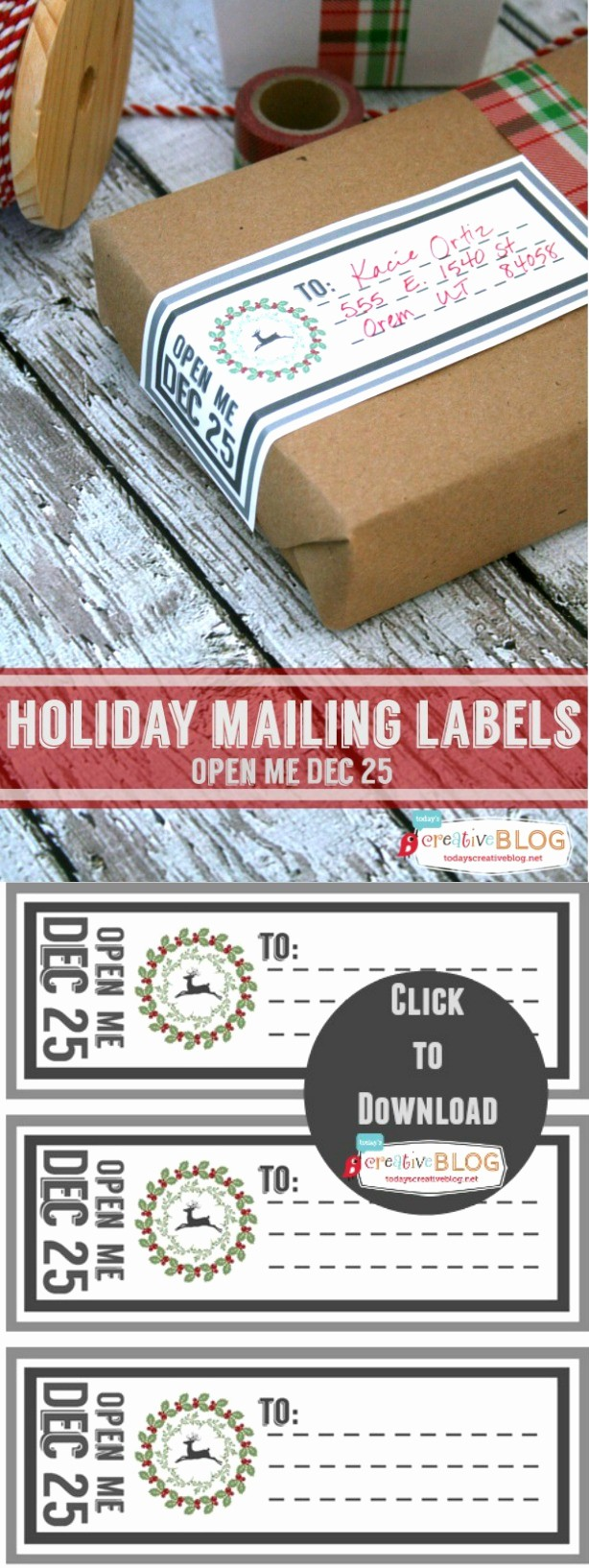 Free Printable Christmas Mailing Labels New Printable Holiday Mailing Labels today S Creative Blog