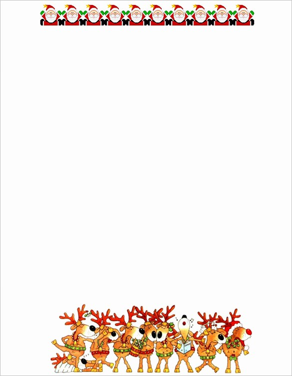 Free Printable Christmas Stationery Templates Awesome 13 Christmas Paper Templates Free Word Pdf Jpeg