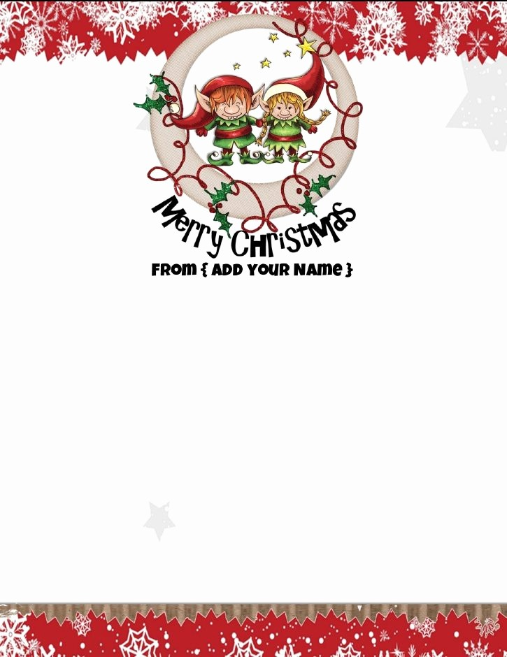 Free Printable Christmas Stationery Templates Beautiful Free Personalized Christmas Stationery