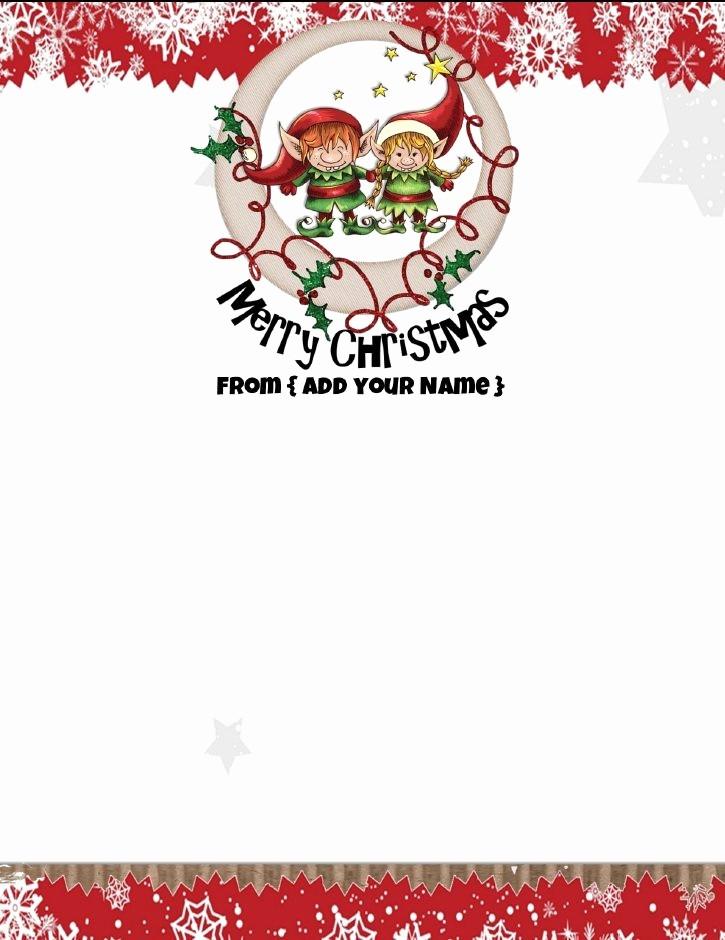 Free Printable Christmas Stationery Templates Beautiful Free Personalized Christmas Stationery