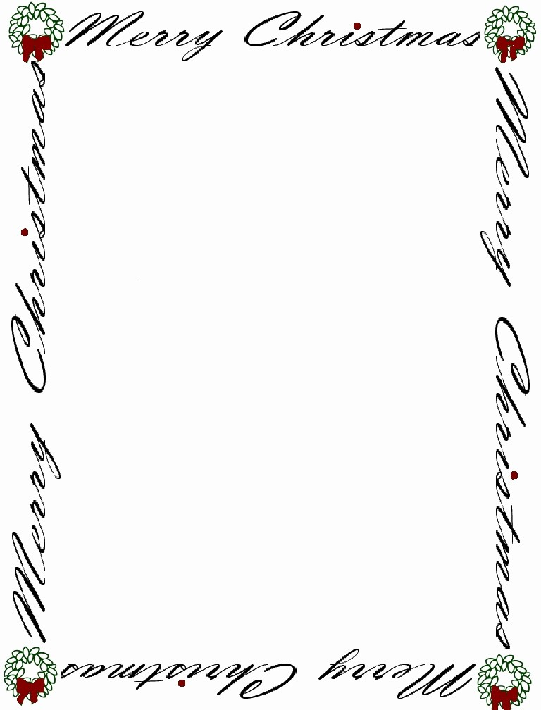 Free Printable Christmas Stationery Templates Best Of Free Baby Shower Border Templates Cliparts