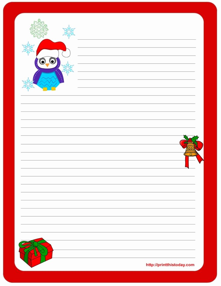 Free Printable Christmas Stationery Templates Elegant 109 Best Christmas Stationery Images On Pinterest