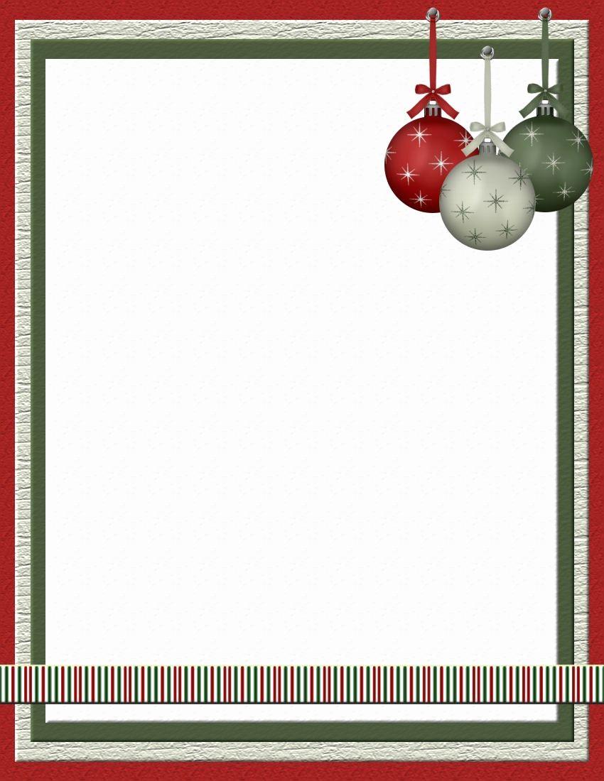 Free Printable Christmas Stationery Templates Inspirational Christmas 2 Free Stationery Template Downloads