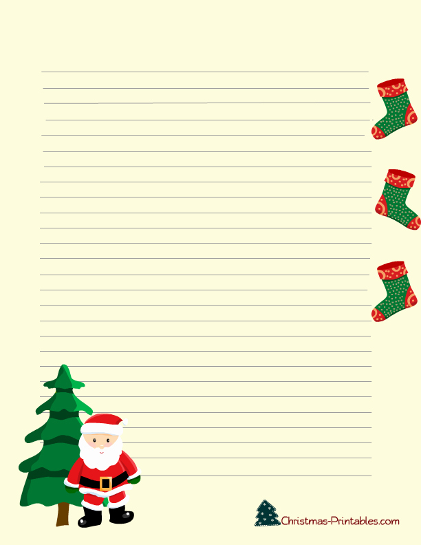 Free Printable Christmas Stationery Templates New 8 Best Of Free Printable Christmas Stationery