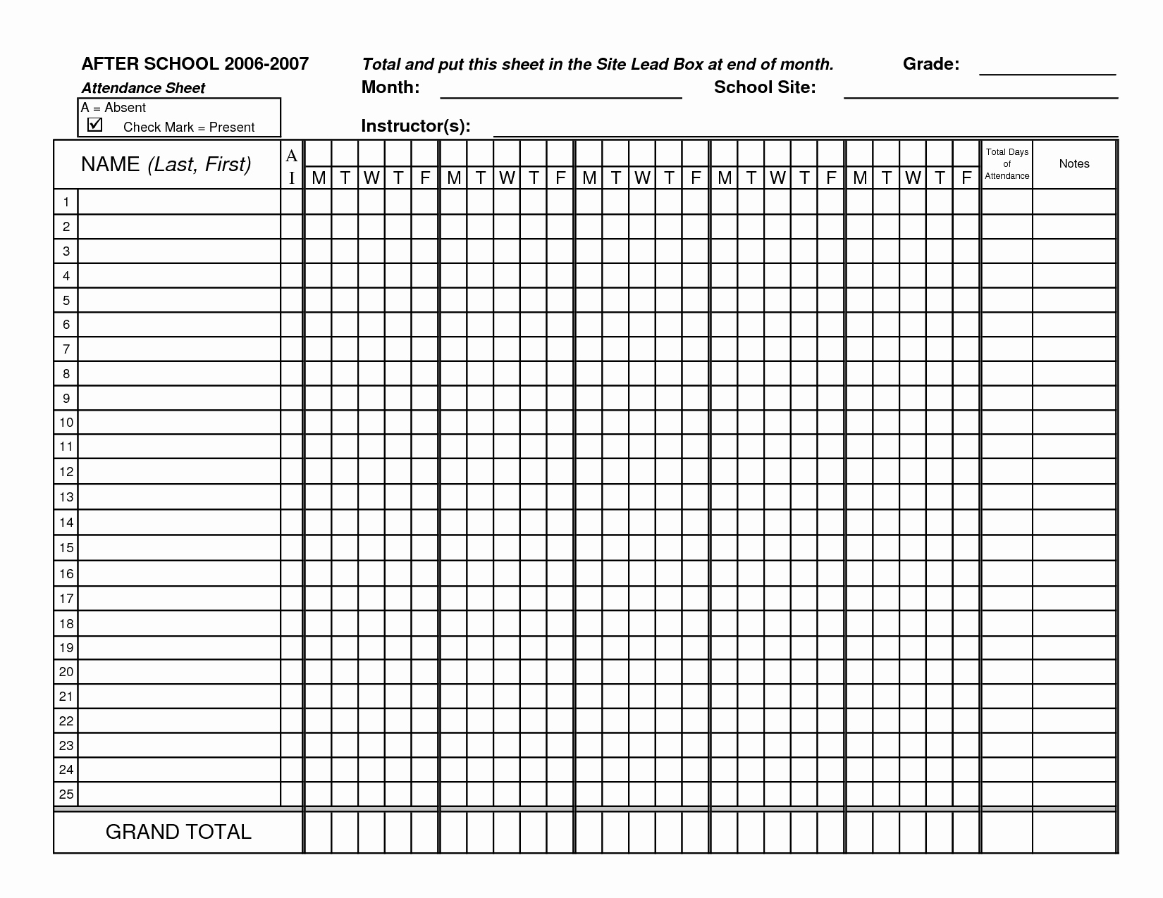 Free Printable Class Roster Template Awesome Classroom attendance Sheets