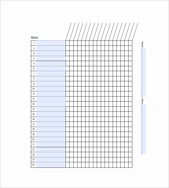 Free Printable Class Roster Template Beautiful Class List Template 15 Free Word Excel Pdf format