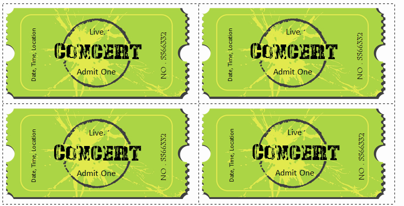 Free Printable Concert Ticket Template Luxury 6 Ticket Templates for Word to Design Your Own Free Tickets