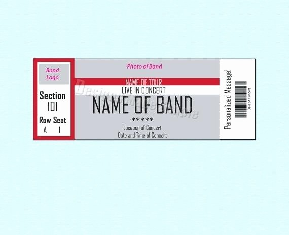 Free Printable Concert Ticket Template Luxury Blank Printable Concert Tickets Sporting event Ticket