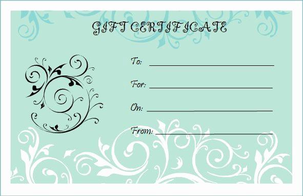 Free Printable Customizable Gift Certificates Beautiful Microsoft Bridal Shower T Certificate Templates