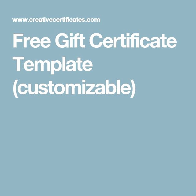 Free Printable Customizable Gift Certificates Best Of 17 Best Ideas About Gift Certificate Templates On