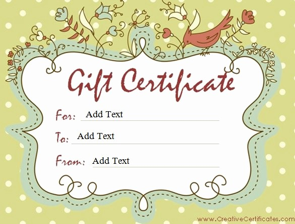Free Printable Customizable Gift Certificates Best Of Gift Certificate Template 42 Examples In Pdf Word In