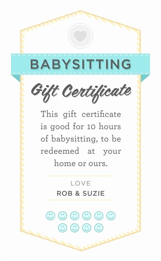 Free Printable Customizable Gift Certificates Elegant Babysitter Date Night Printable