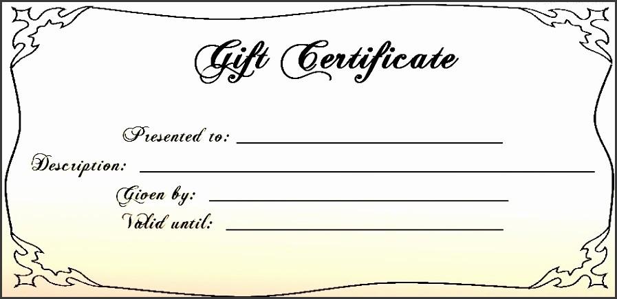 Free Printable Customizable Gift Certificates Lovely 6 Free Printable Gift Voucher Template Sampletemplatess