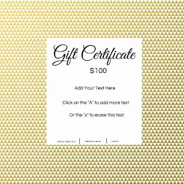Free Printable Customizable Gift Certificates Lovely Gift Certificate Template with Customizable Background and