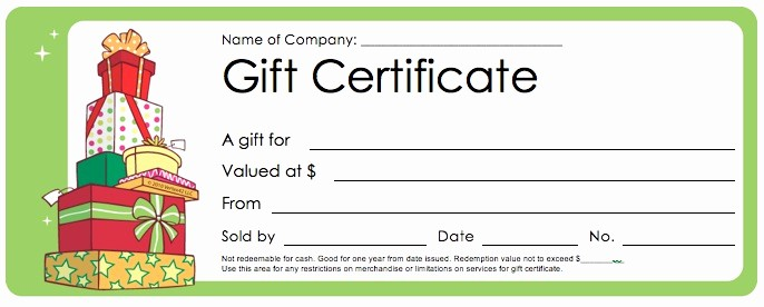 Free Printable Customizable Gift Certificates New Download Christmas Gift Certificate Templates Wikidownload