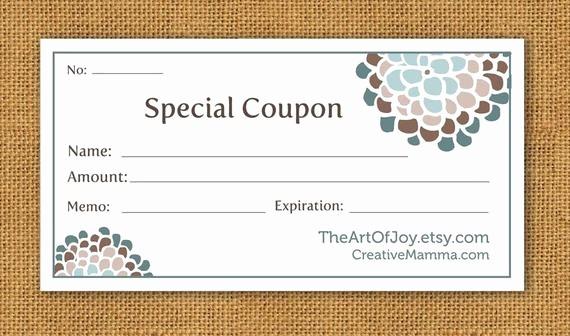 Free Printable Customizable Gift Certificates New Items Similar to Printable Customizable Gift Certificate