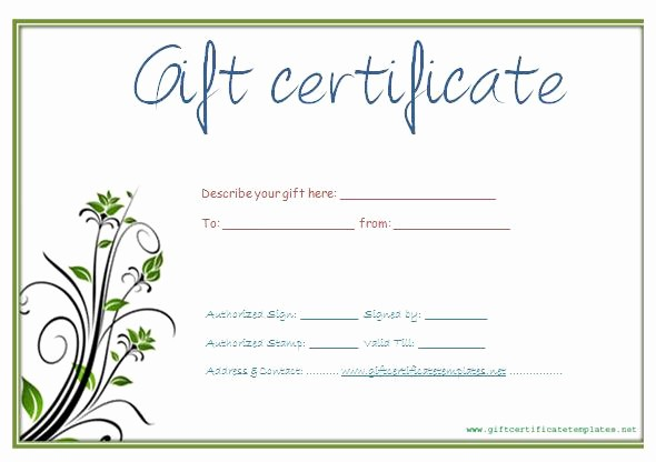 Free Printable Customizable Gift Certificates Unique Download Gift Certificate Template for Free Tidytemplates