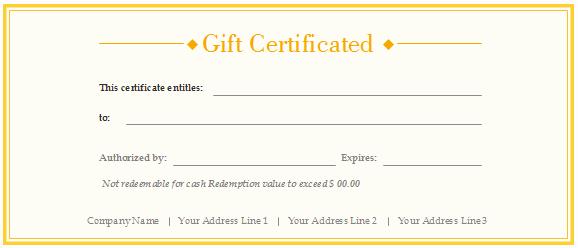 Free Printable Customizable Gift Certificates Unique Free Gift Certificate Templates Customizable and Printable