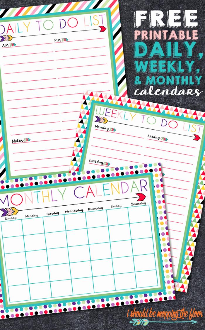 Free Printable Daily Calendar 2015 Awesome I Should Be Mopping the Floor Free Printable Daily