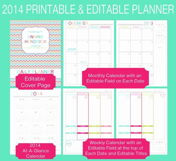 Free Printable Daily Calendar 2015 Best Of Editable 2015 Printable Full Page Size Daily Planner Pdf