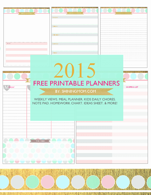 Free Printable Daily Calendar 2015 Best Of Your Free Printable 2015 Planner