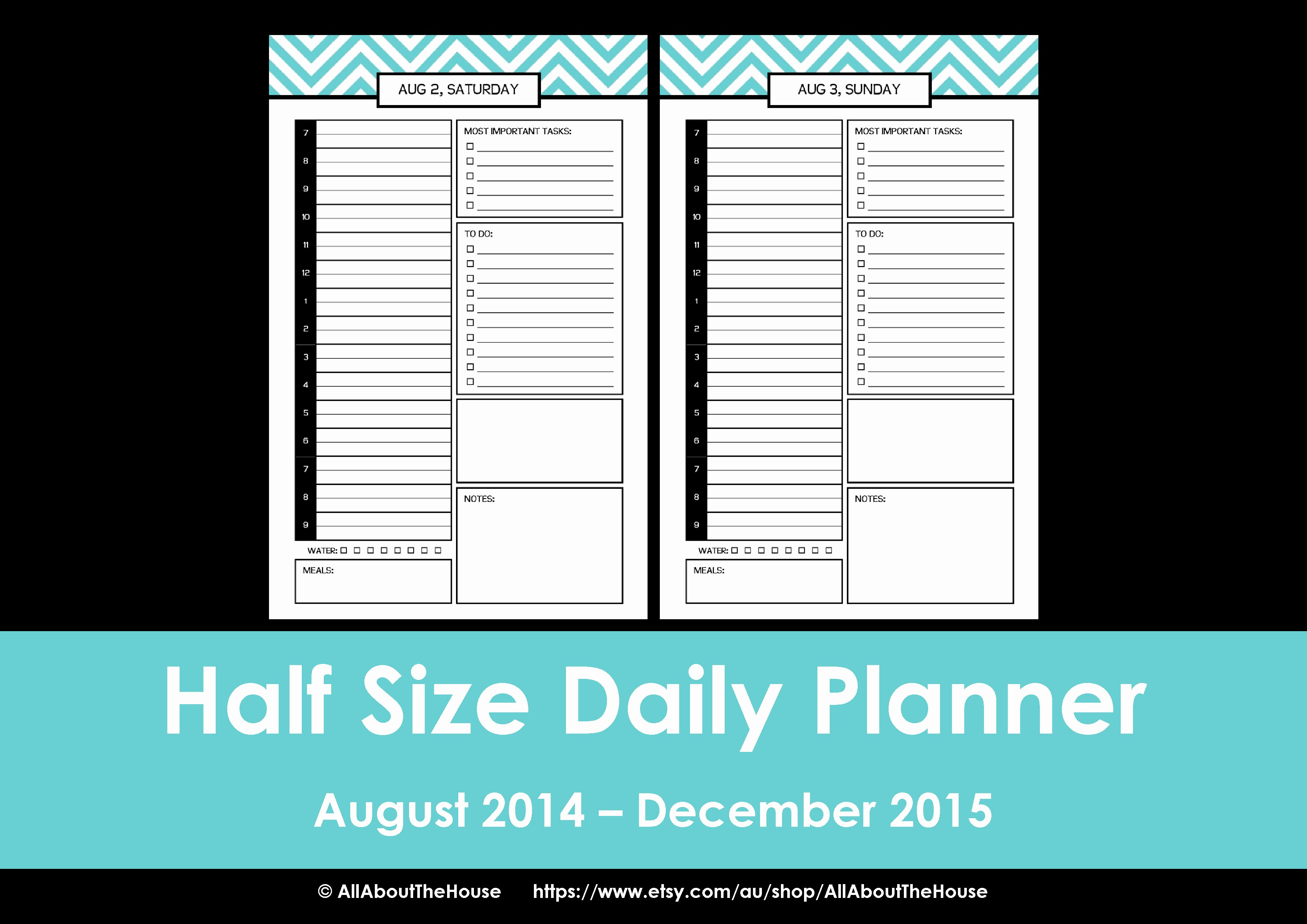 Free Printable Daily Calendar 2015 Inspirational My 2014 Printable Daily Planner Well 2014 2015 Rainbow