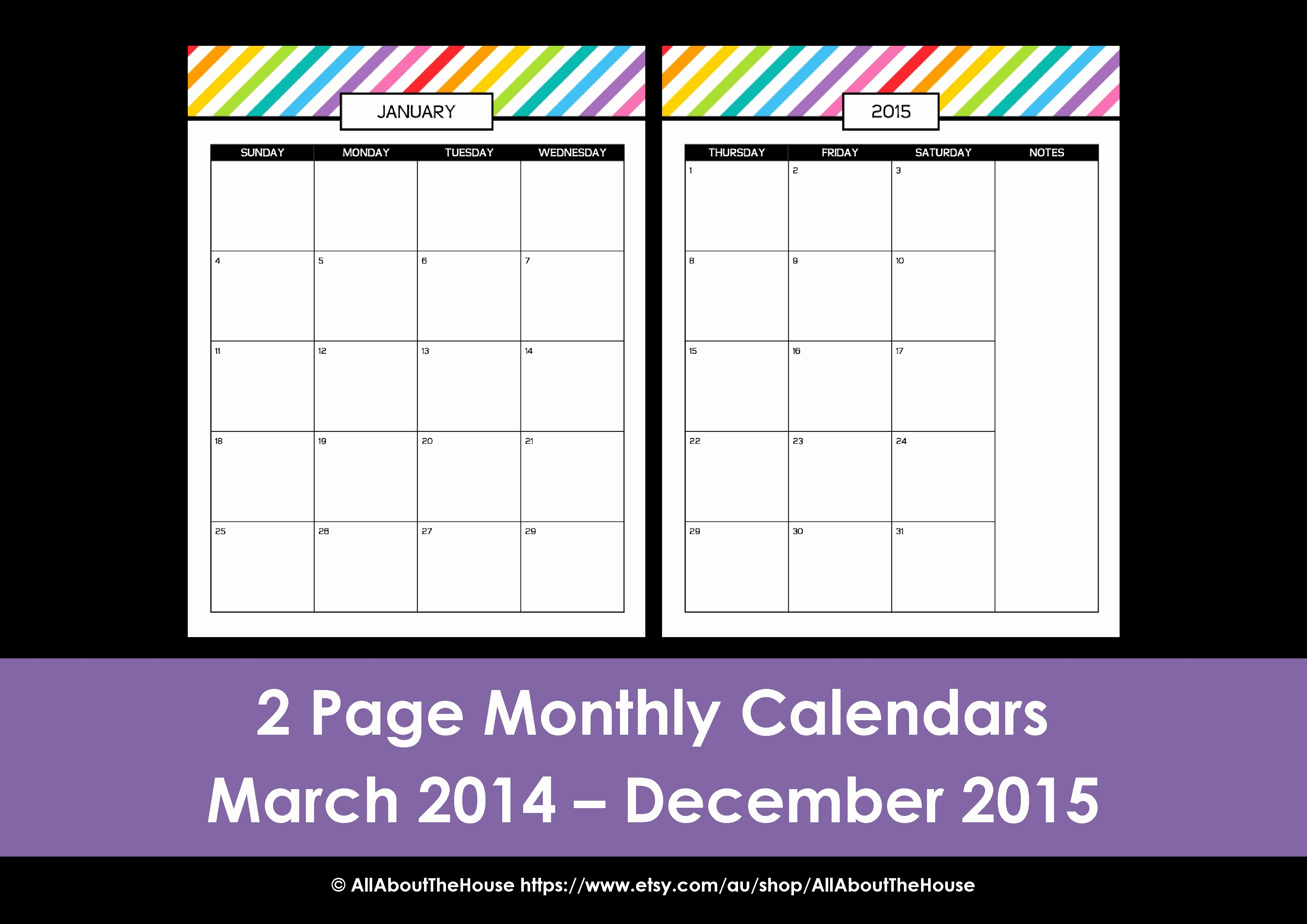 Free Printable Daily Calendar 2015 Lovely My 2015 Printable Rainbow Daily Planner