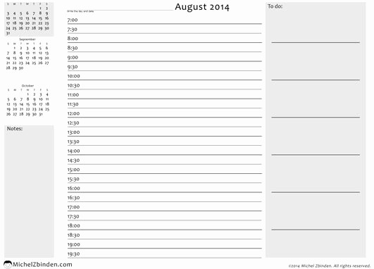 Free Printable Daily Calendar 2015 Luxury 8 Best Of Daily Calendar 2014 Printable Free