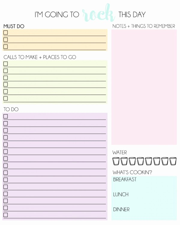 Free Printable Daily Calendar 2015 Luxury Daily Planner Free Printable2 Mrs Happy Homemaker