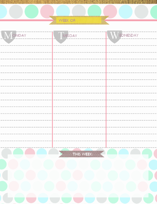 Free Printable Daily Calendar 2015 New 6 Best Of Free 2015 Printable Daily Planner 2015