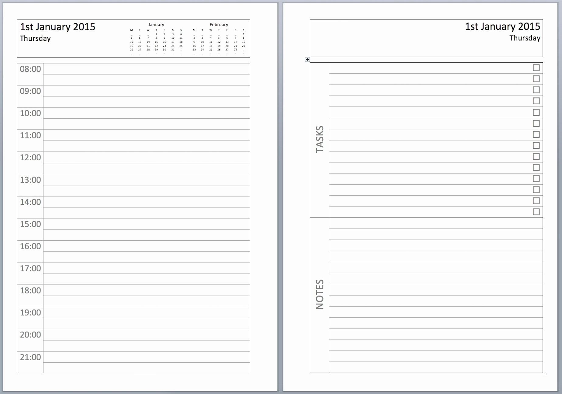 Free Printable Daily Calendar 2018 Beautiful Get Free Sample Of Daily Planner 2019